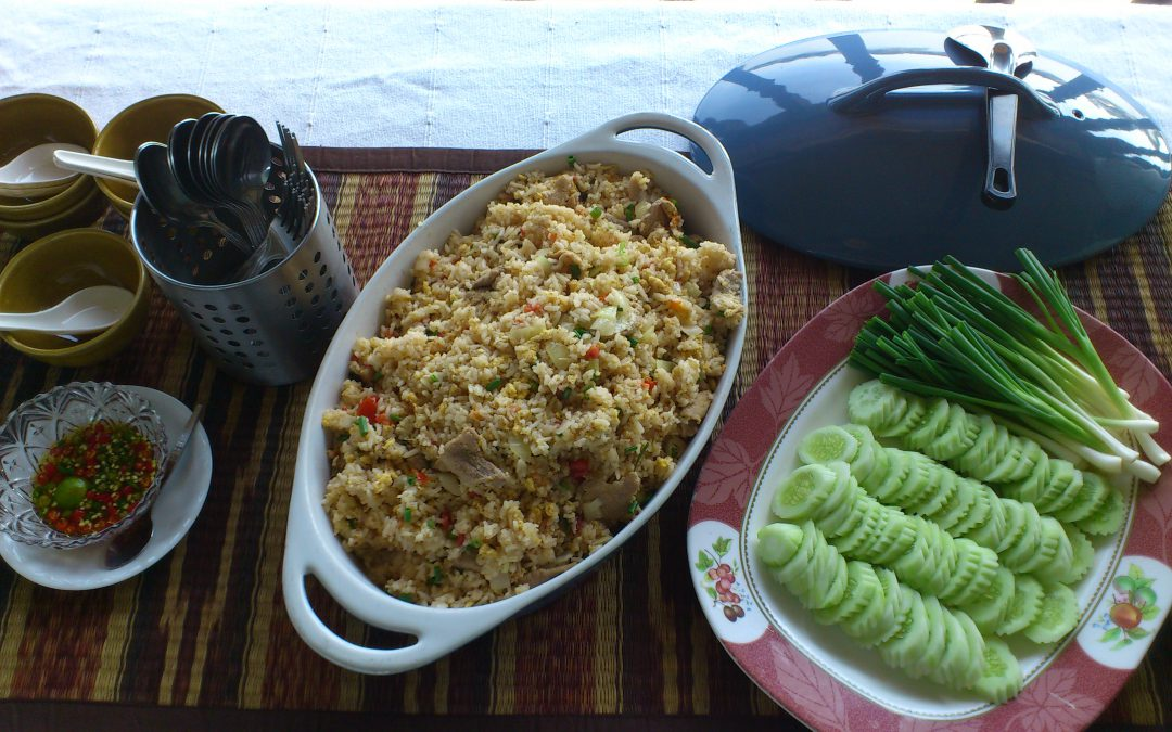 Riz sauté au poulet (Khao Pad Khaï)