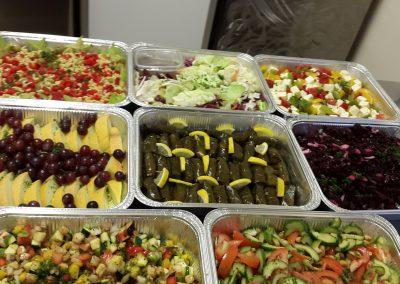 Buffet de salades à emporter