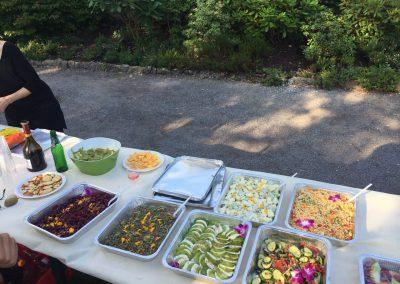 Buffet salade à emporter