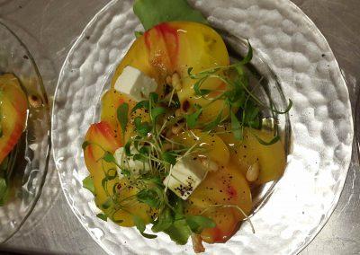 carpacco tomates Ananas