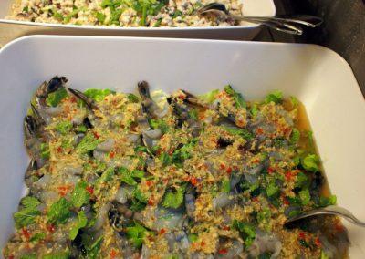crevettes crues marinées à la  Thaïlandaise