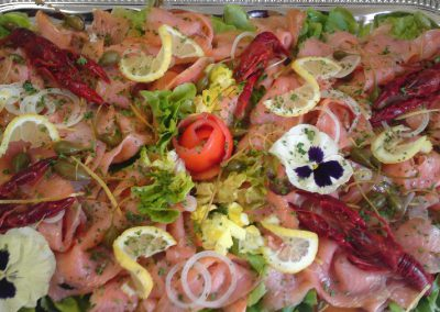 saumon fûmé en buffet